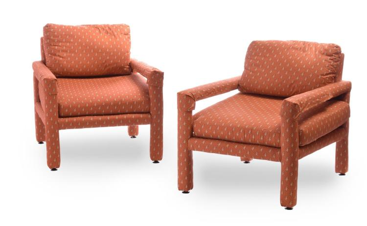 PAIR OF DREXEL LOUNGE CHAIRS.