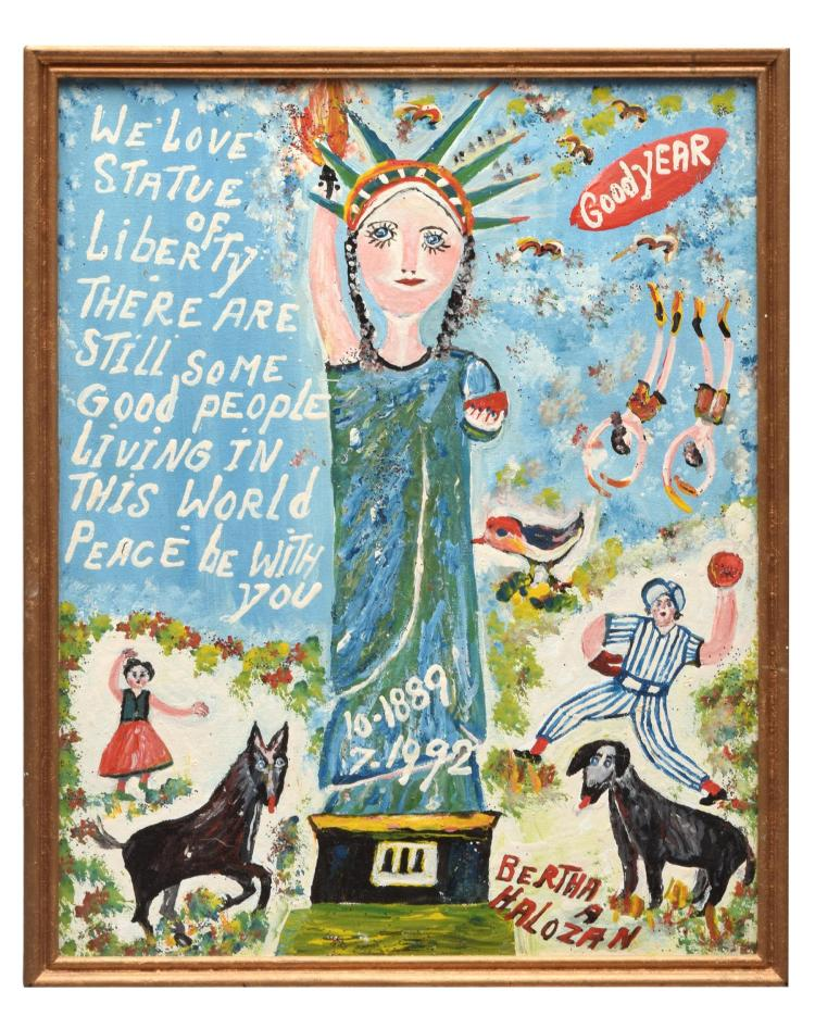 THE STATUE OF LIBERTY BY BERTHA HALOZAN (AUSTRIAN-AMERICAN, 1917-2004).