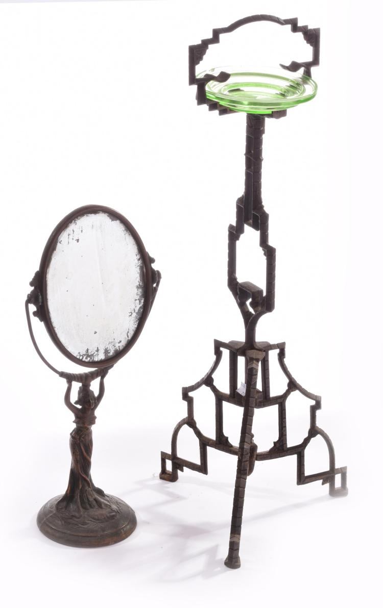 TWO ART NOUVEAU ITEMS.