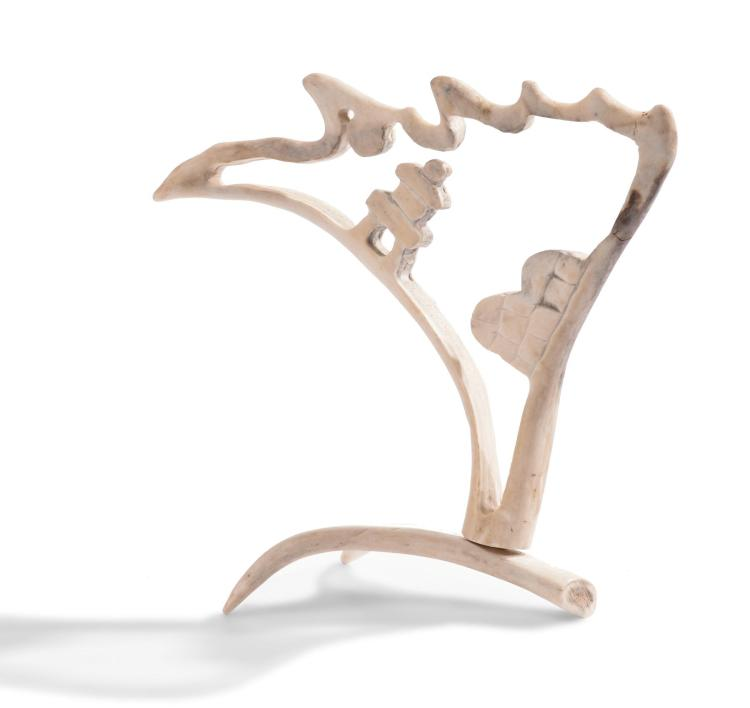 PACIFIC NORTHWEST INUIT ANTLER SCULPTURE.
