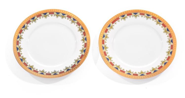 TWELVE LIMOGES SALAD PLATES.
