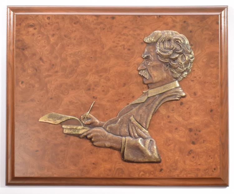 BRONZE PLAQUE BY DON WIEGAND (AMERICAN).