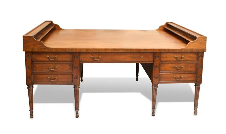 GEORGE WASHINGTON DESK BY KITTINGER FURNITURE COMPANY.
