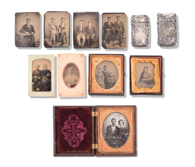 COLLECTION OF UNIDENTIFIED TIN TYPES.