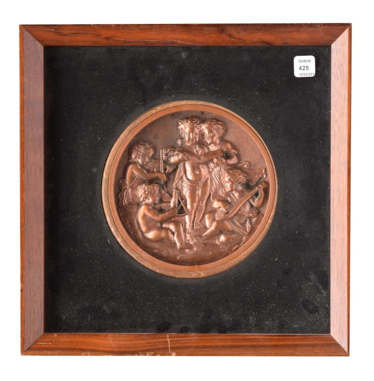 COPPER REPOUSSE PLAQUE
