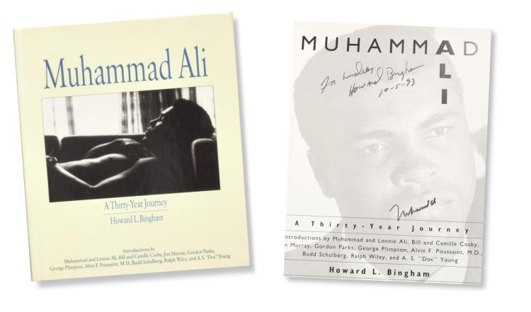 MUHAMMAD ALI AUTOGRAPHED BIOGRAPHY.