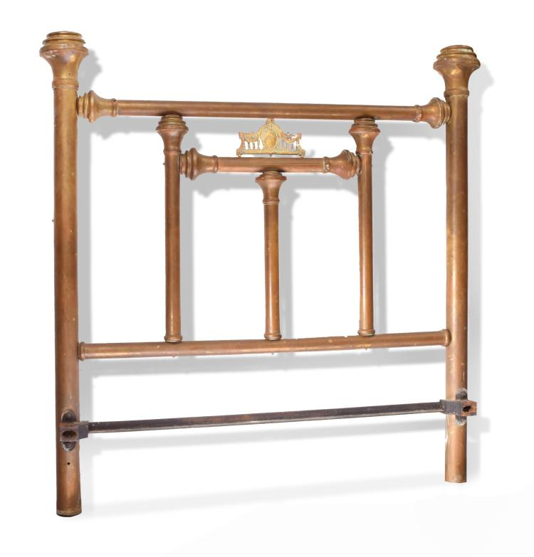 ANTIQUE CIVIL WAR ERA BRASS BED.