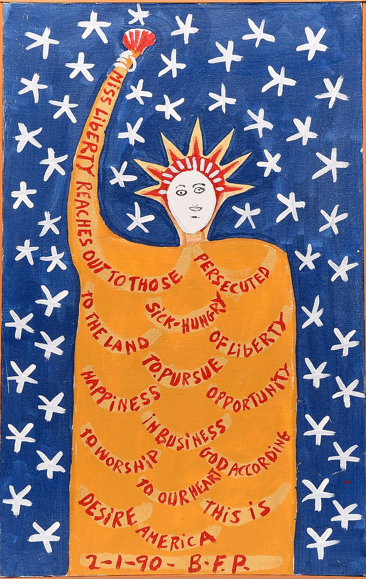 MISS LIBERTY BY BENJAMIN FRANKLIN PERKINS (AMERICAN, 1904-1993).