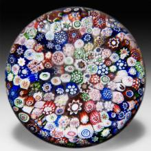 Antique Baccarat close packed millefiori glass paperweight.