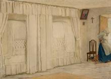 "NÉSTOR MARTÍN- FERNÁNDEZ LA TORRE (Las Palmas de Gran Canaria, 1887 - 1938). ""Indoor scene"". Oil on canvas. Attached certificate issued by Daniel Montes de Oca, director of the Néstor Museum (Gran Canaria). Signed in the lower right corner."