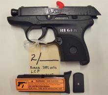 Lot 2: RUGER .380 Auto LCP Semi-Auto Pistol, New in box