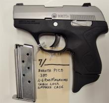 Lot 7: BERETTA Pico .380 INOX Semi-Auto Pistol