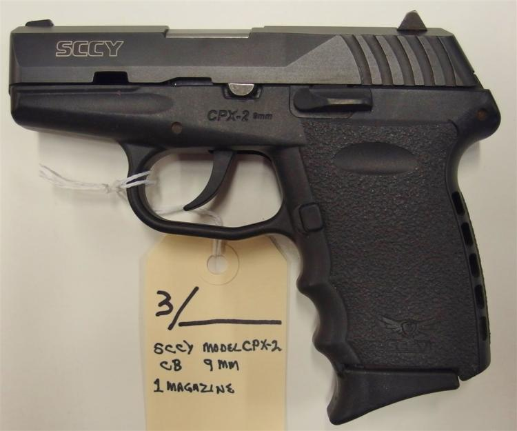 SCCY Model CPX-2 CB Semi-Auto 9mm Pistol