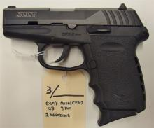 Lot 3: SCCY Model CPX-2 CB Semi-Auto 9mm Pistol