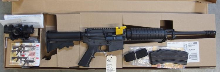 Lot 10: BUSHMASTER Carbon-15 .223/5.56 Rifle with RedDot, Includes RedDot Sight. NIB