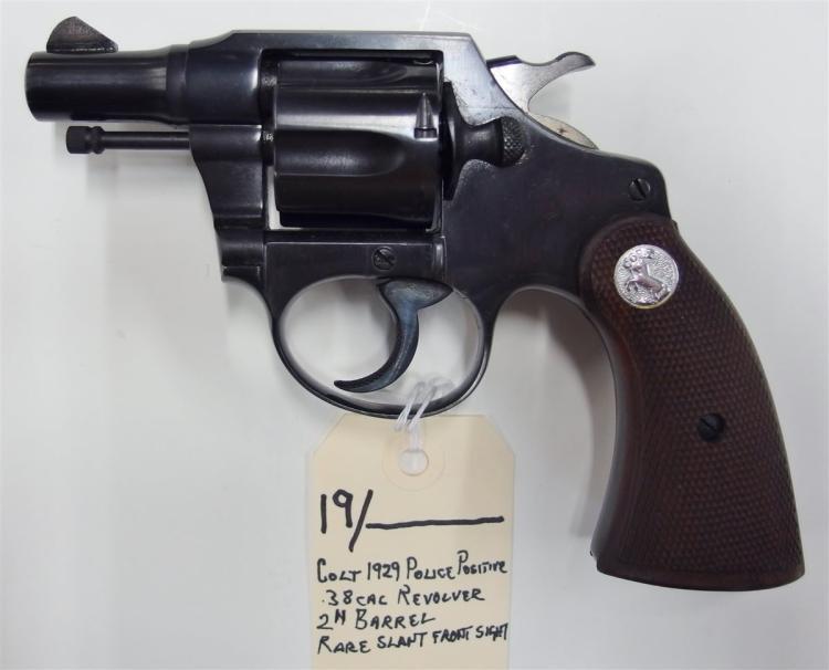 COLT Police Positive .38 cal. DA Revolver, 1929