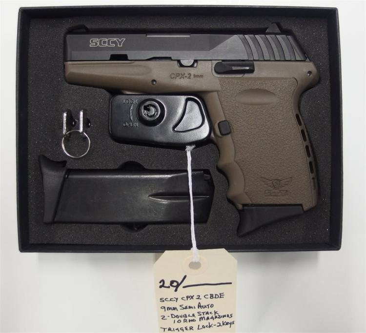 SCCY Model CPX-2CBDE 9mm Semi-Auto Pistol, NIB