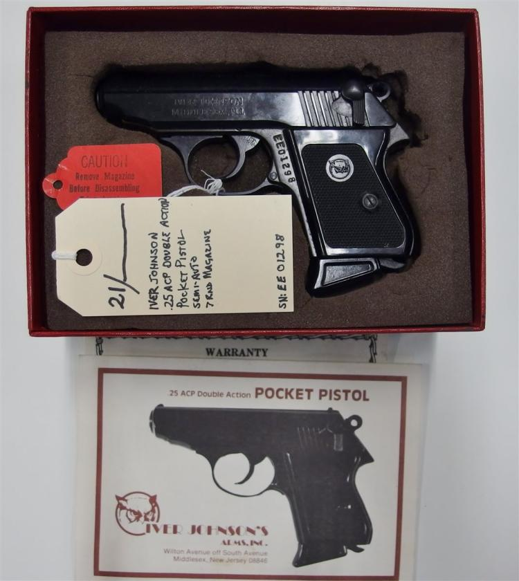 IVER JOHNSON .25 ACP Double Action Pocket Pistol, Semi-Auto