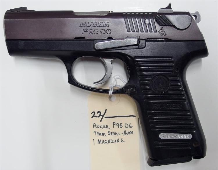 RUGER P95 DC 9mm Semi-Auto Pistol