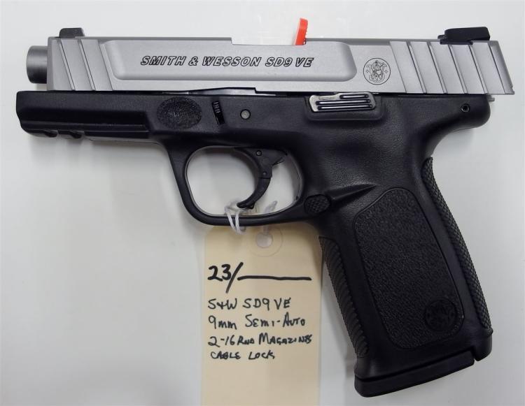 Lot 23: SMITH & WESSON SC9VE 9mm Semi-Auto Pistol , NIB