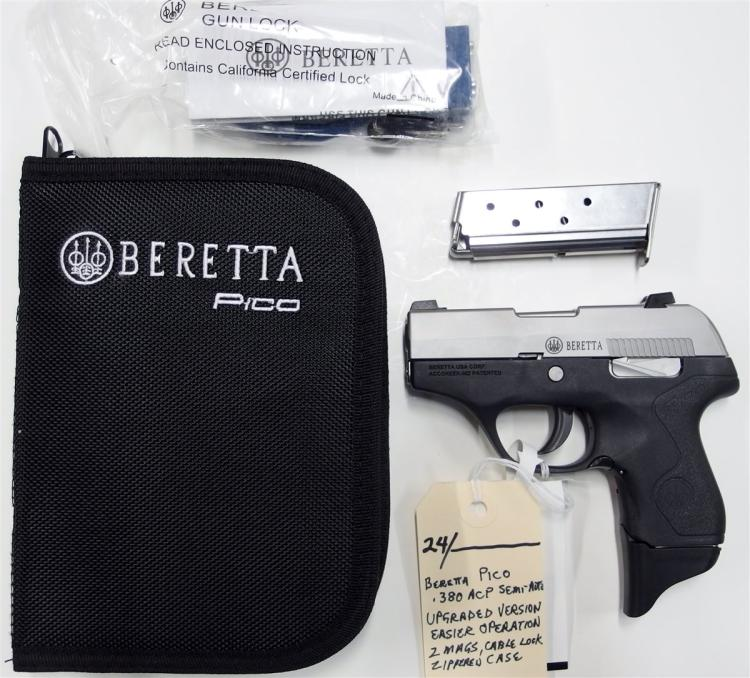 BERETTA Pico 380 ACP Semi-Auto Pistol, Factory Upgraded Version, NEW