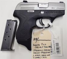 Lot 24: BERETTA Pico 380 ACP Semi-Auto Pistol, Factory Upgraded Version, NEW
