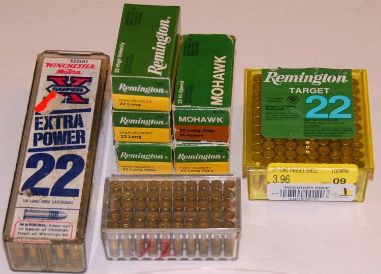 Assorted .22 cal. Ammo, 493 Rounds