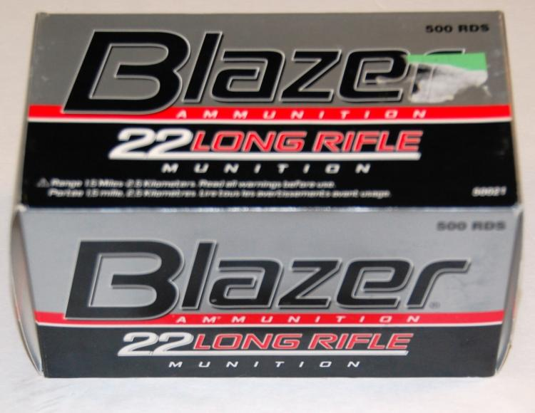 Blazer .22 Long Rifle.22 cal. Ammo, 500 Rounds