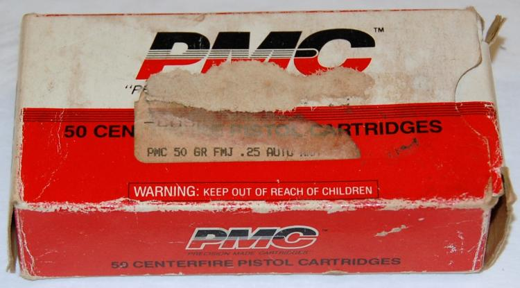 Lot 32: PMC .25 cal. Ammo, 50 Rounds