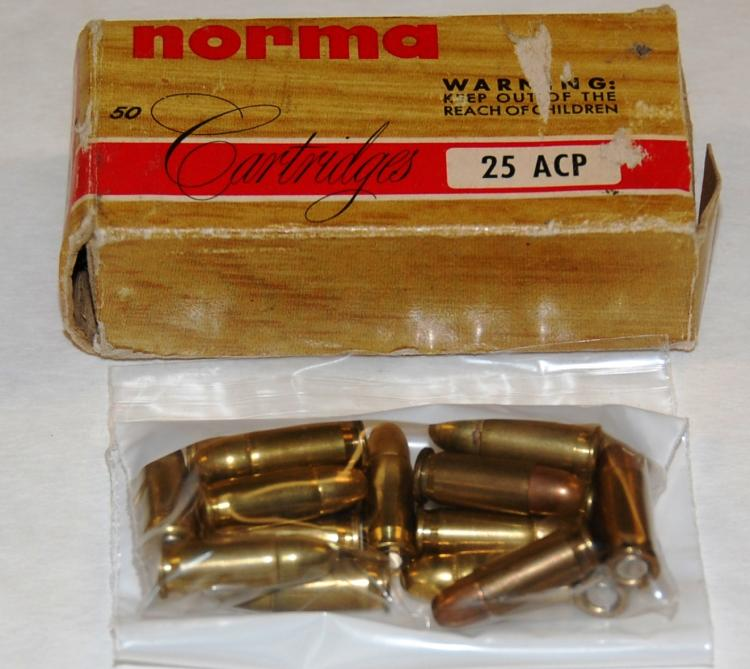 Assorted .25 cal. Ammo, 74 Rounds