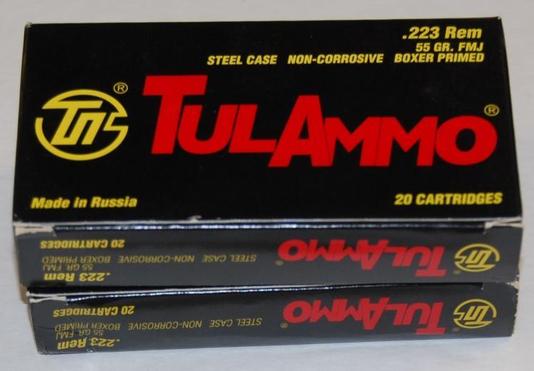 TUL .223 Ammo, 40 Rounds
