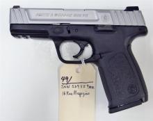 Lot 49: SMITH & WESSON SD9VE 9mm Semi-Auto Pistol