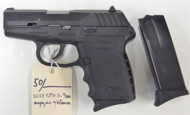 SCCY Model CPX-2 9mm Semi-Auto Pistol