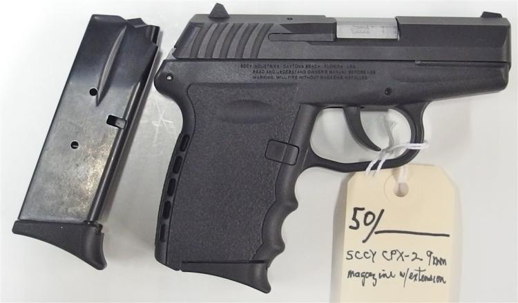 Lot 50: SCCY Model CPX-2 9mm Semi-Auto Pistol