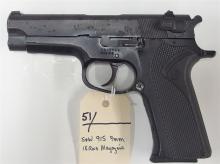 Lot 51: SMITH & WESSON 915/9 9mm Semi-Auto Pistol