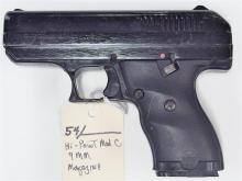 Lot 54: HI-POINT Model C9 9mm Semi-Auto Pistol
