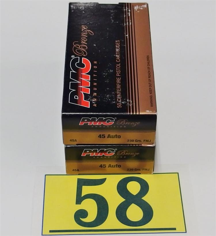 PMC .45 ACP 230gr FMJ Ammo, 100 Rounds