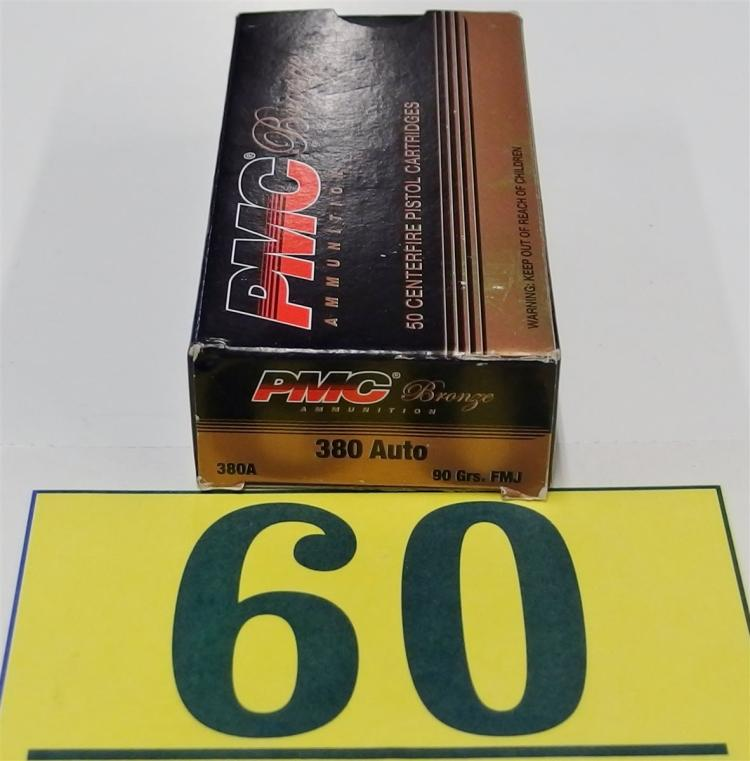 PMC .380 ACP Ammo, 50 Rounds