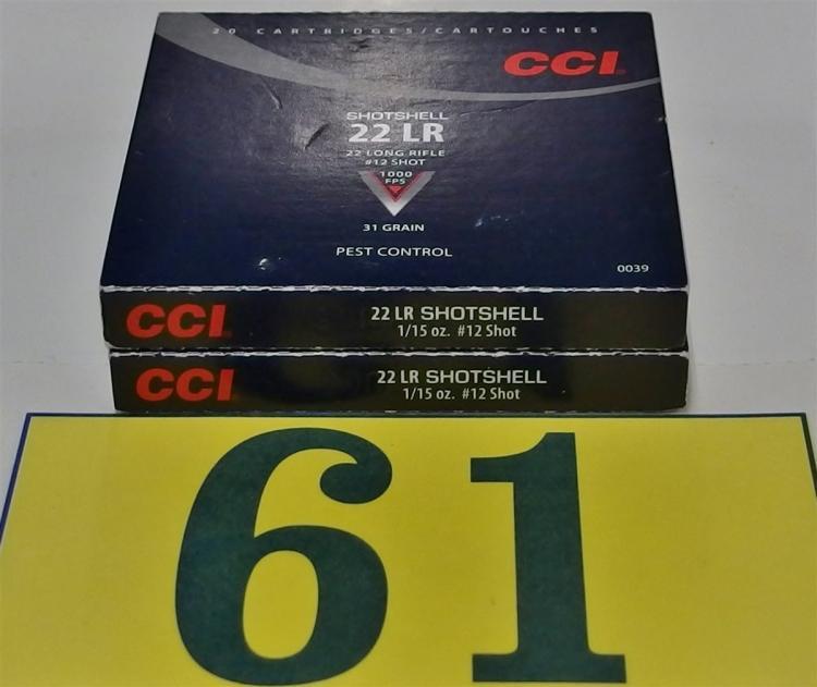 CCI  .22LR #12 Shotshell  Ammo, 40 Rounds