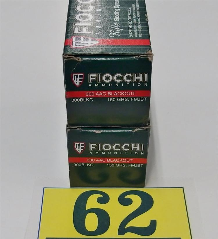 Fiocchi .300 AAC Blackout (7.62x35mm) Ammo, 100 Rounds