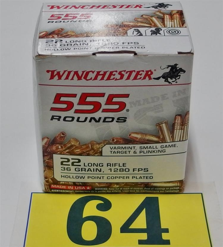 Winchester 22LR Hollow Point Ammo, 555 Rounds
