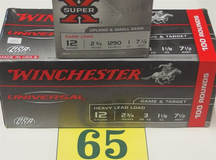 "Winchester 12g 2-3/4"" Shells, 125 Rounds"
