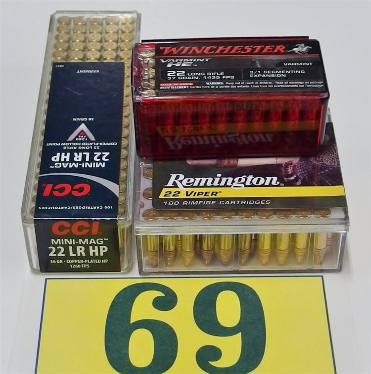 Assorted .22 LR Ammo, 250 Rounds