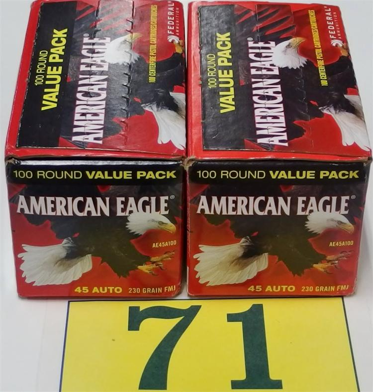 American Eagle .45 ACP 230gr FMJ Ammo, 200 Rounds