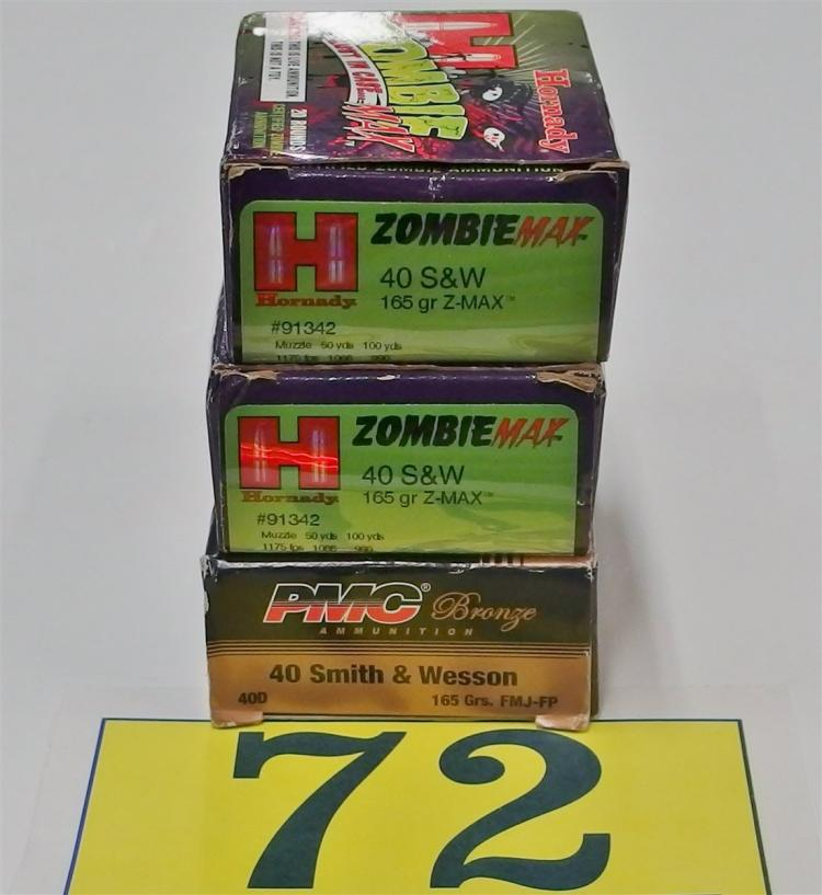 Assorted .40 S&W 165gr Ammo, 140 Rounds