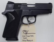 Lot 79: SMITH & WESSON Model 908 9mm Semi-Auto Pistol
