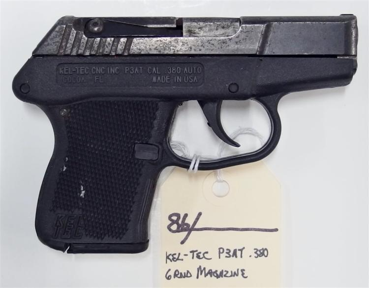 Lot 86: KEL-TEC P3AT .380 Auto Semi-Auto Pistol