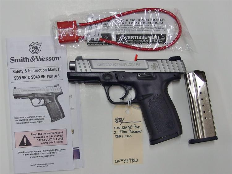 SMITH & WESSON SD9VE 9mm Semi-Auto Pistol, NIB