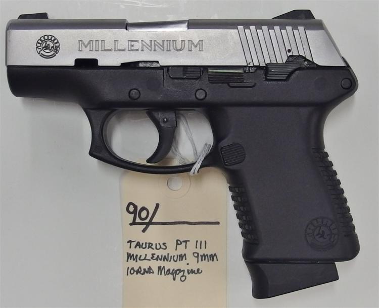 Lot 90: TAURUS PT111 Millennium 9mm Semi-Auto Pistol