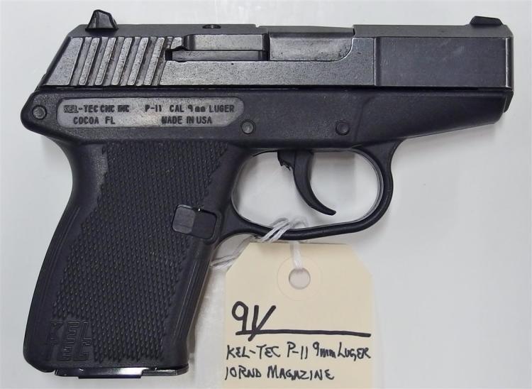 Lot 91: KEL-TEC P-11 9mm Luger Semi-Auto Pistol
